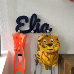 3D gedruckte Garderobe mit eigenem Namen