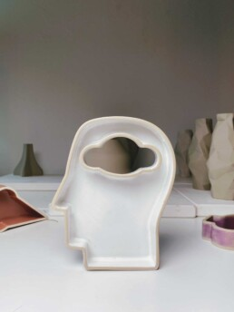 Head in the cloud 3D gedruckte Keramikschale